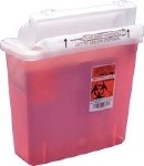 5 QT SHARPS CONTAINER,RED W/CONTAINER BALANCE DOOR