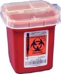 SHARPS MULTI-PURPOSE CONTAINER 1/2 GAL.W/ROTOR LID